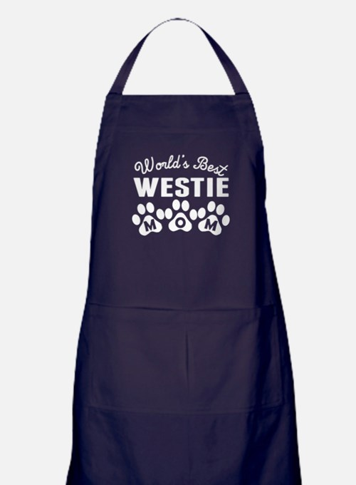 Worlds Best Westie Mom Apron (dark)