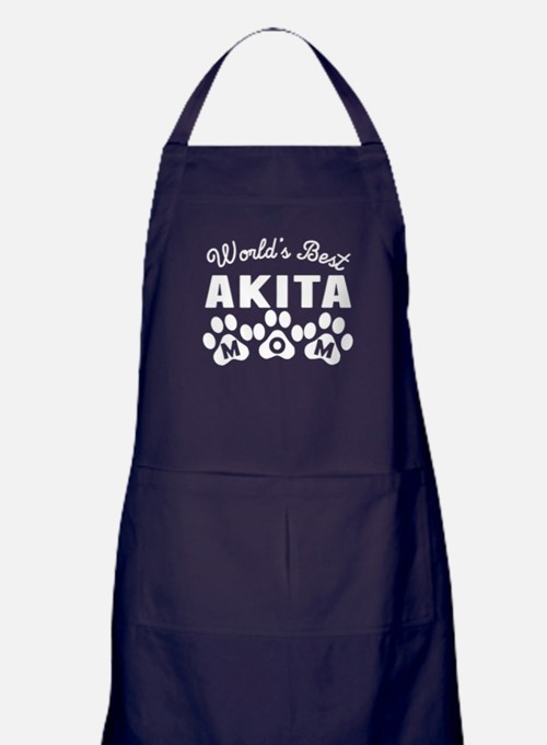 Worlds Best Akita Mom Apron (dark)