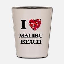 I love Malibu Beach California Shot Glass