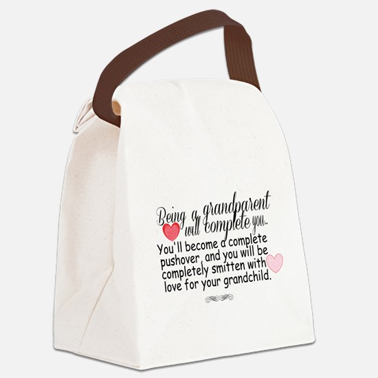 being a grandparent Canvas Lunch Bag