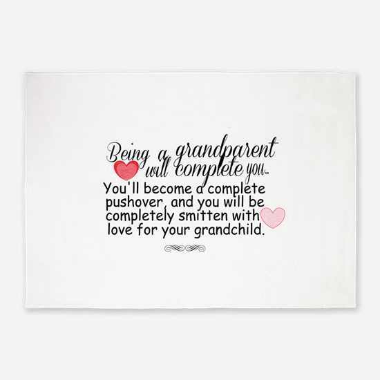 being a grandparent 5'x7'Area Rug