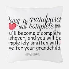 being a grandparent Woven Throw Pillow