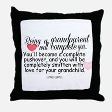 being a grandparent Throw Pillow