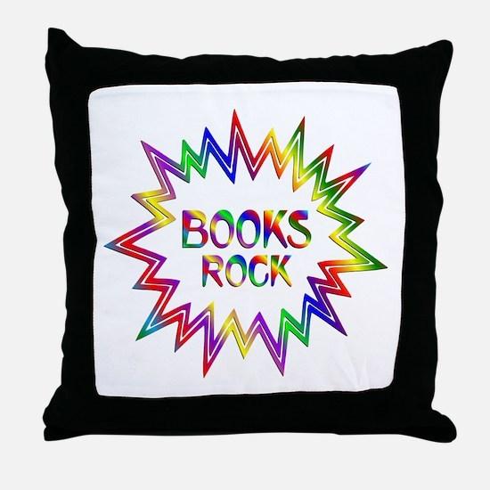 Books Rock Throw Pillow