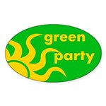 Green Party Oval Sticker
