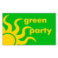 Green Party Rectangle Decal