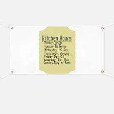Kitchen Hours Humor Banner