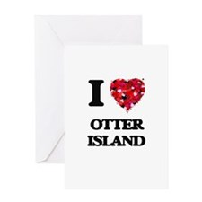 I love Otter Island Washington Greeting Cards
