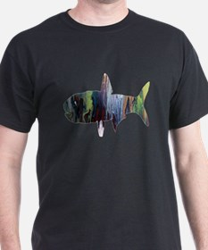Abstract colorful Anchovy painting T-Shirt