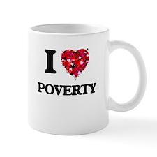 I love Poverty New Jersey Mugs