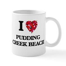 I love Pudding Creek Beach California Mugs