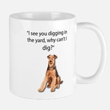 Airedale Doesn't Get Why He Can't Dig Mugs