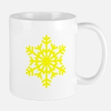 Yellow Snowflake Mug