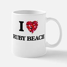 I love Ruby Beach Washington Mugs