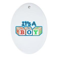 It's a Boy announcement Oval Ornament