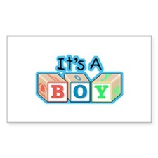 It's a Boy announcement Rectangle Decal