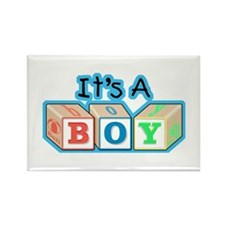 It's a Boy announcement Rectangle Magnet