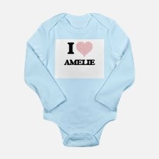 I love Amelie (heart made from words) de Body Suit