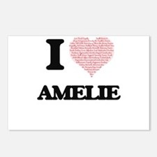 I love Amelie (heart made Postcards (Package of 8)
