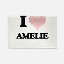 I love Amelie (heart made from words) desi Magnets