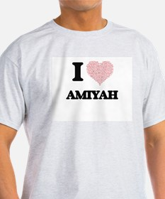 I love Amiyah (heart made from words) desi T-Shirt
