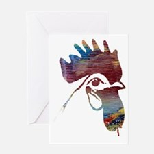 Cool Chicken silhouette Greeting Card
