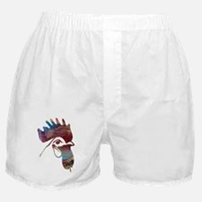 Rooster painting Boxer Shorts