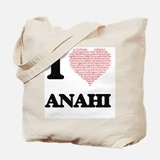 I love Anahi (heart made from words) desi Tote Bag