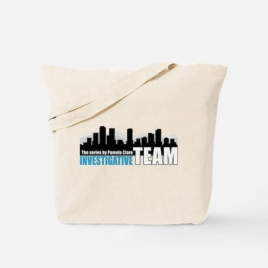 Large Blue I-Team logo Tote Bag