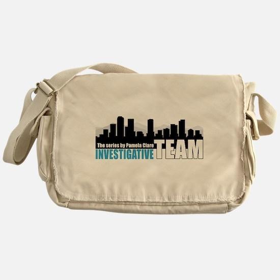 Large Blue I-Team logo Messenger Bag