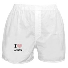 I love Anaya (heart made from words) Boxer Shorts