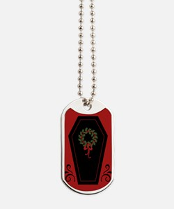Vampire Holiday Coffin Dog Tags