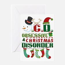 Cool Christmas yard Greeting Card