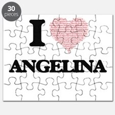 I love Angelina (heart made from words) des Puzzle