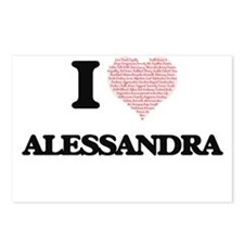 I love Alessandra (heart Postcards (Package of 8)