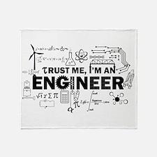Trust Me I'm An Engineer Throw Blanket