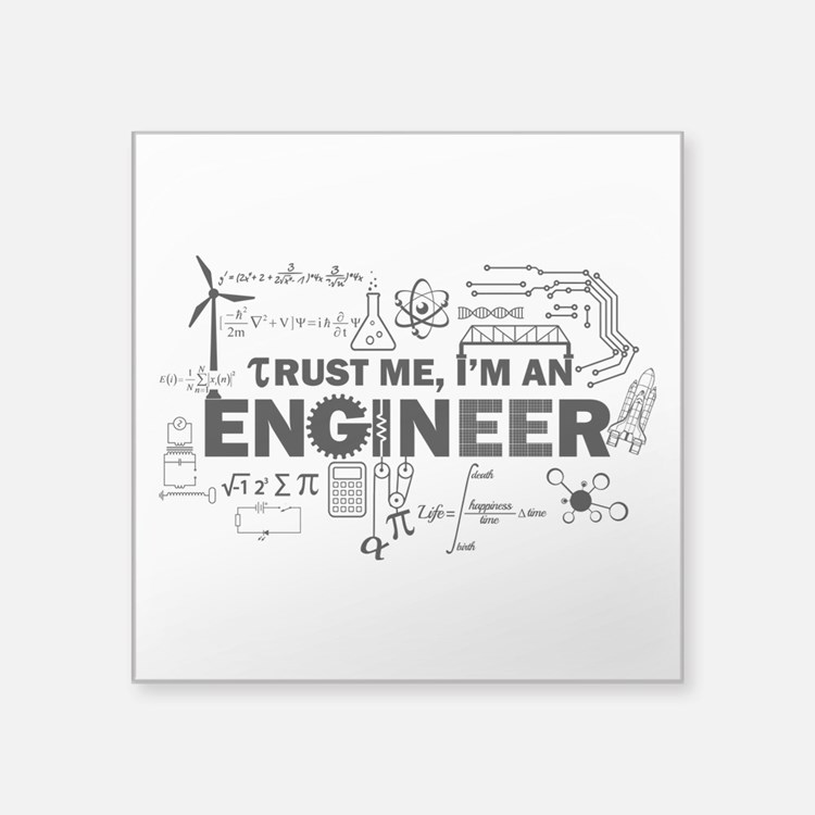 Trust Me I'm An Engineer Sticker