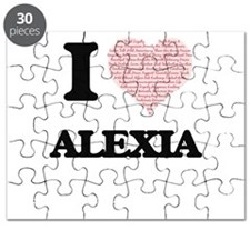 I love Alexia (heart made from words) desig Puzzle