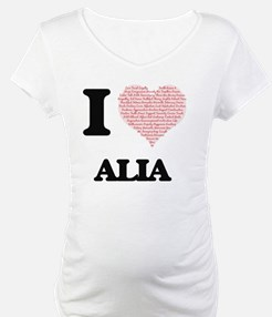 I love Alia (heart made from wor Shirt