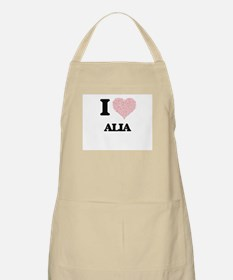 I love Alia (heart made from words) design Apron