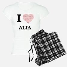 I love Alia (heart made fro Pajamas