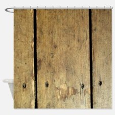 Rustic Wooden Planks Shower Curtain
