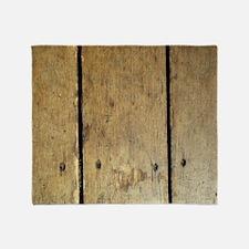 Rustic Wooden Planks Throw Blanket