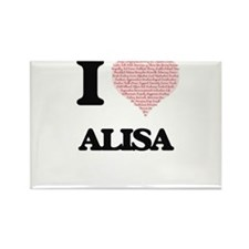 I love Alisa (heart made from words) desig Magnets