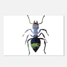 Colorful Ant painting Postcards (Package of 8)