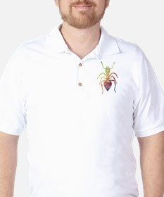 Colorful Ant painting Golf Shirt