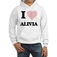 I love Alivia (heart made from w Hoodie