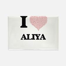 I love Aliya (heart made from words) desig Magnets
