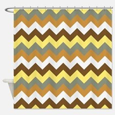 Chevron pattern seamless vector arr Shower Curtain