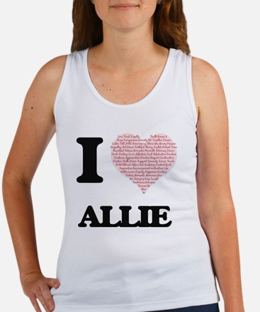 I love Allie (heart made from words) desi Tank Top